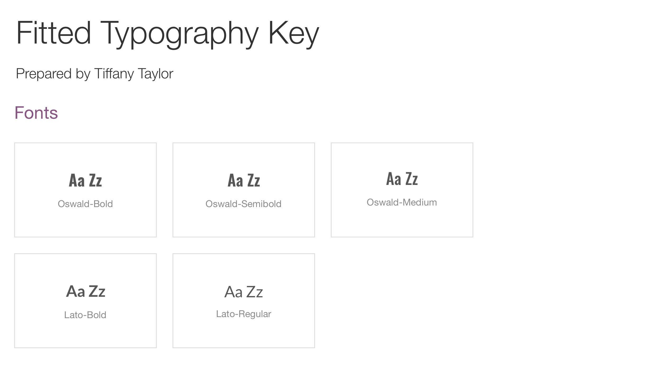 Typography Key